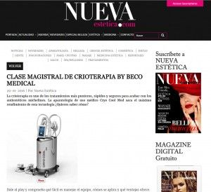 CLASE MAGISTRAL DE CRIOTERAPIA BY BECO MEDICAL